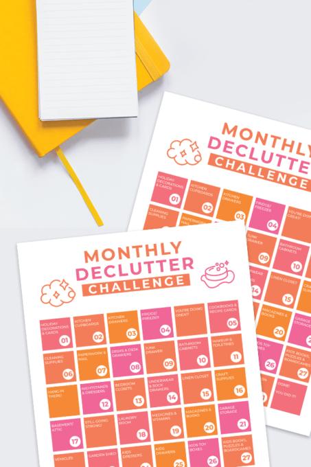 Free Printable Declutter Challenge