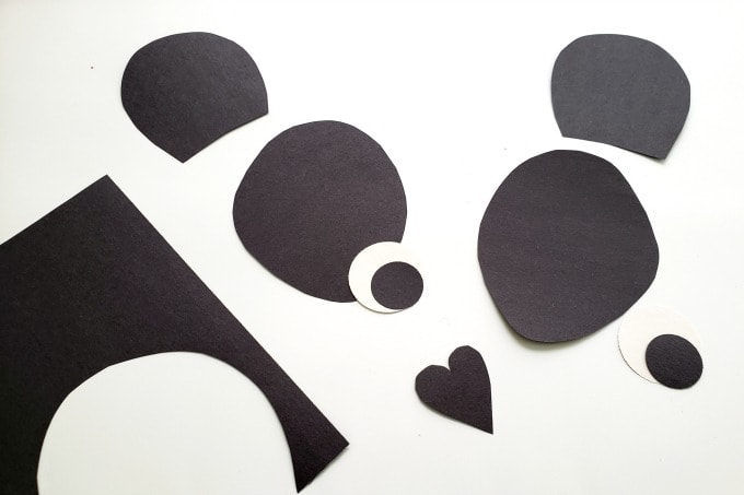Panda face cutouts