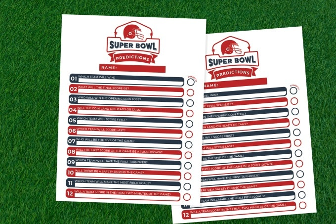Super Bowl Party Game