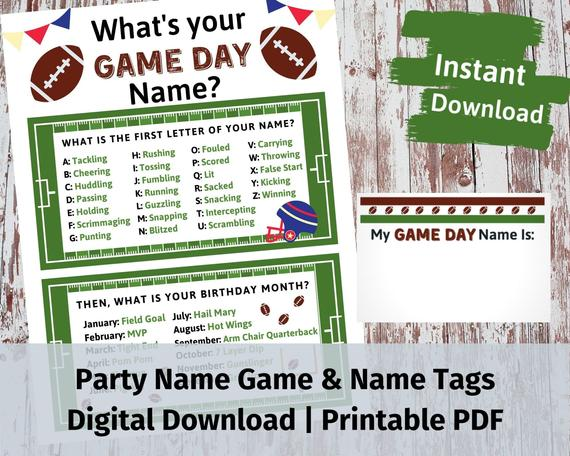 Party Name Game With Name Tags