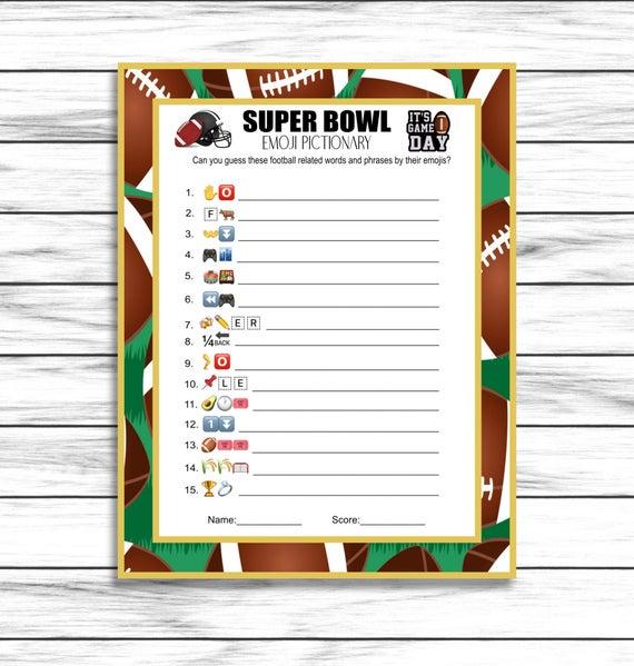 Super Bowl Emoji Game