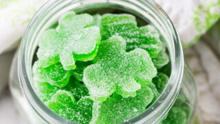 Shamrock Homemade Gummies with Jello