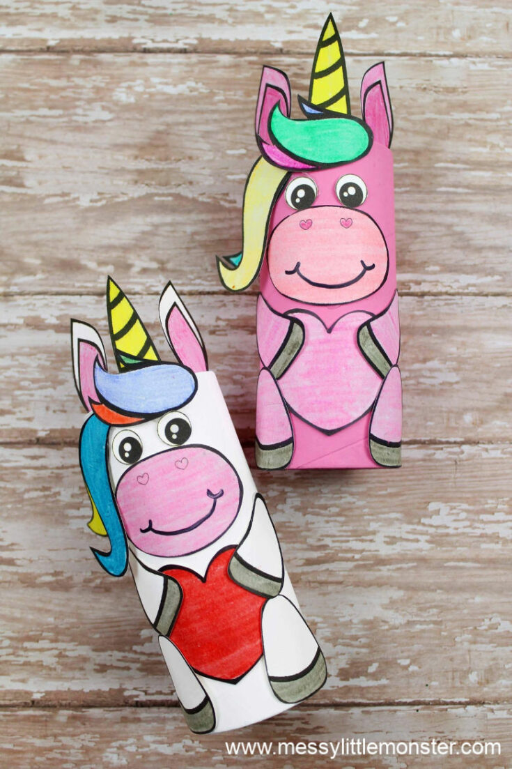 Toilet Paper Roll Unicorn Craft (with templates)