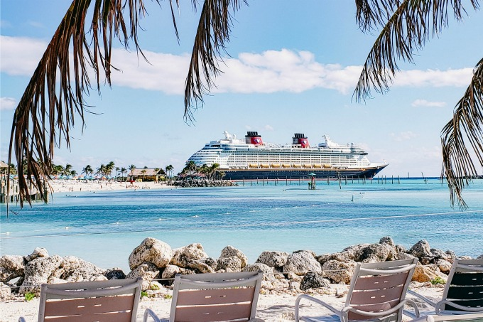 Disney Dream docked in Castaway Cay