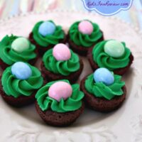 Easter Nest Brownie Bites