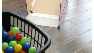 Laundry Basket Skee Ball (With Ball Pit Balls!)