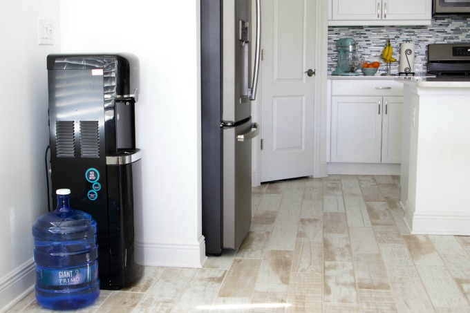 Primo Water Dispenser next to kitchen