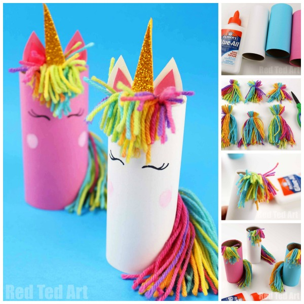 Toilet Paper Roll Unicorn for Preschoolers - Red Ted Art