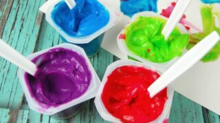 Edible Finger Paint with Pudding Cups
