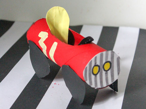 Toilet Paper Roll Race Car Craft
