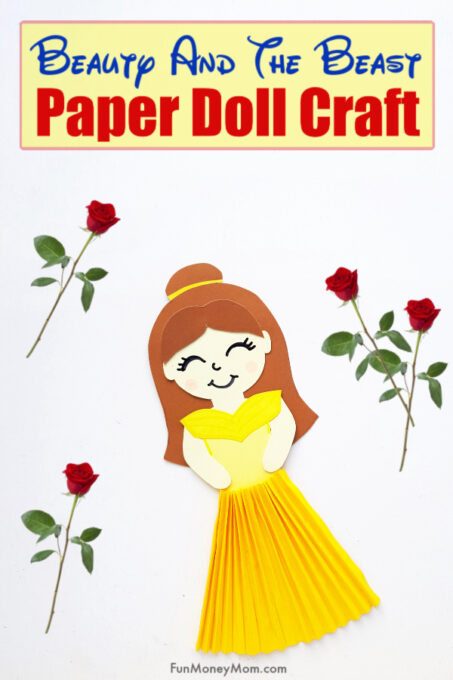 Belle Paper Doll Pin 2