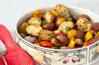 Roasted potatoes feature