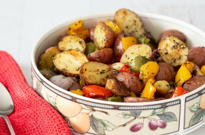 Roasted potatoes feature
