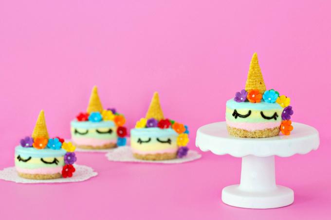 Unicorn No Bake Cheesecake