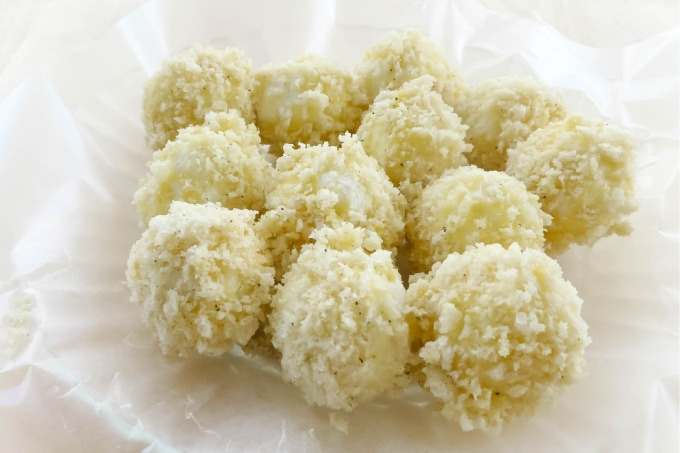 Goat cheese with bread crumbs