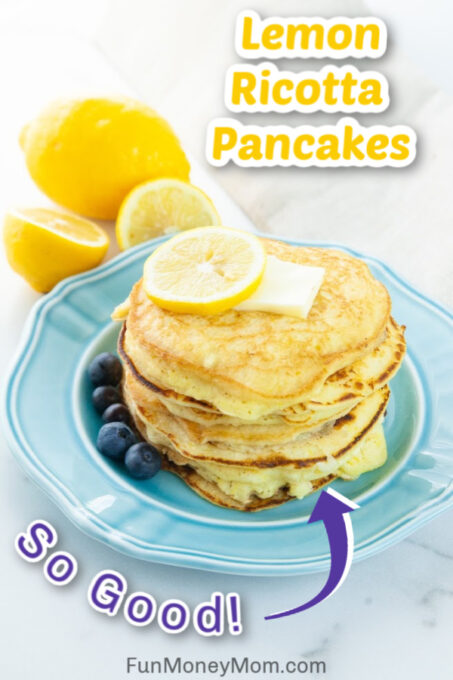 Lemon Ricotta Pancakes Pin 1