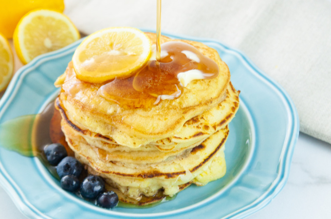 Lemon Ricotta Pancakes feature