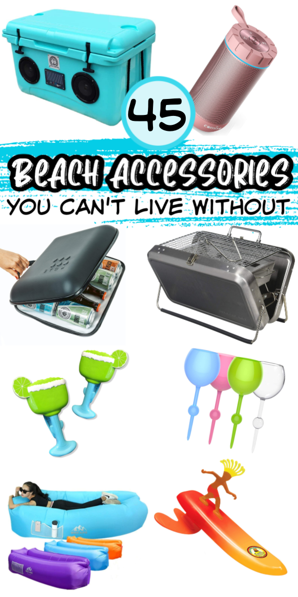 Pictures of various beach gear