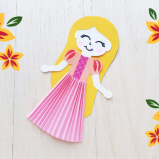 Rapunzel paper doll feature