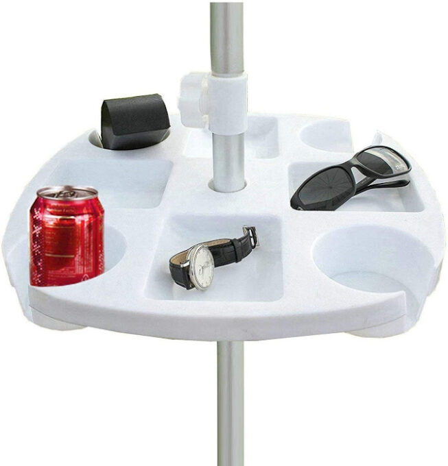 Umbrella table tray
