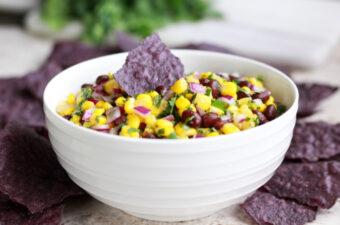 Black bean and corn salsa recipe feature