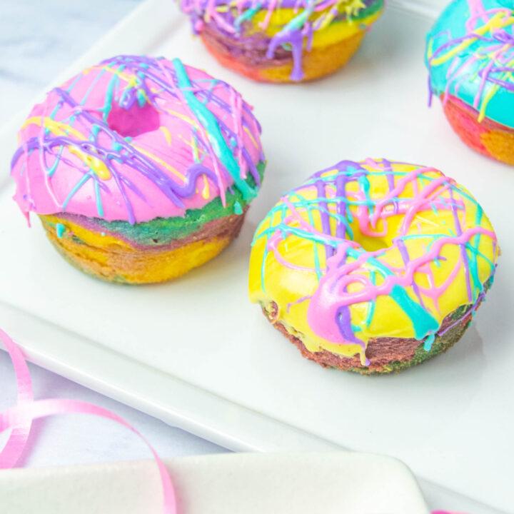 Rainbow Donuts square