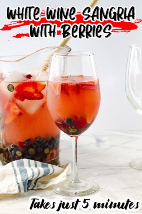 White Wine Sangria Pin