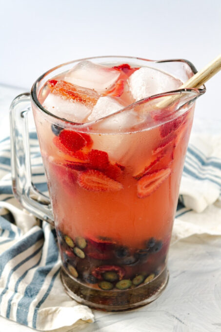 pitcher of berry sangria