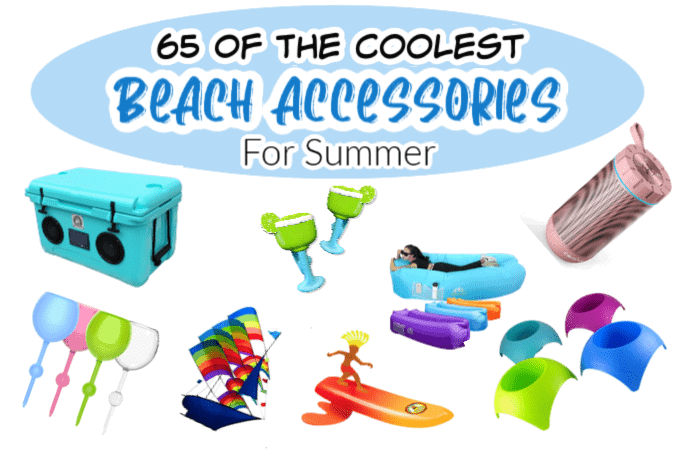 Pictures of beach accessories for a vacation