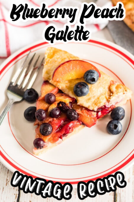 Blueberry Peach Galette Pin 1