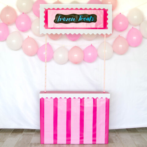 Frozen treat stand with balloons
