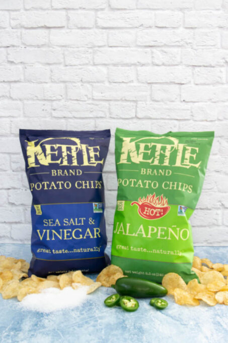 Kettle Potato Chips with sea salt and jalapenos