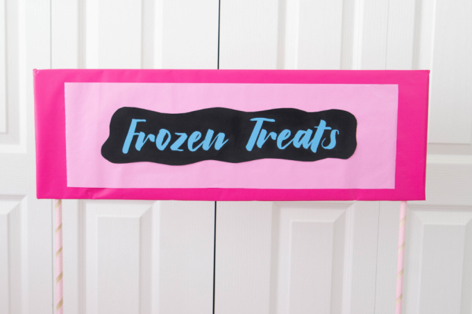Frozen treat sign for treat stand