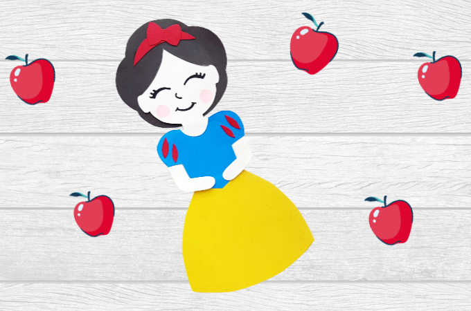 Snow White paper doll feature