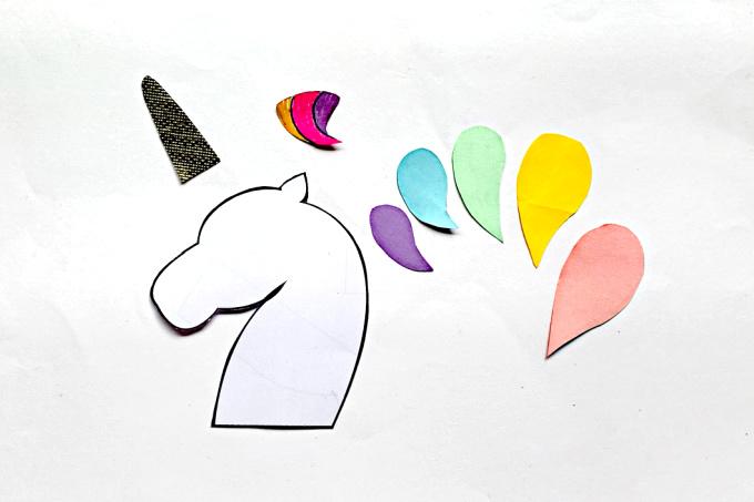 Unicorn template cut out