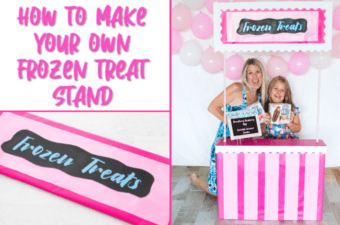 How to make a frozen treat stand
