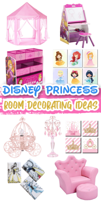Pictures of decor for a Disney princess room