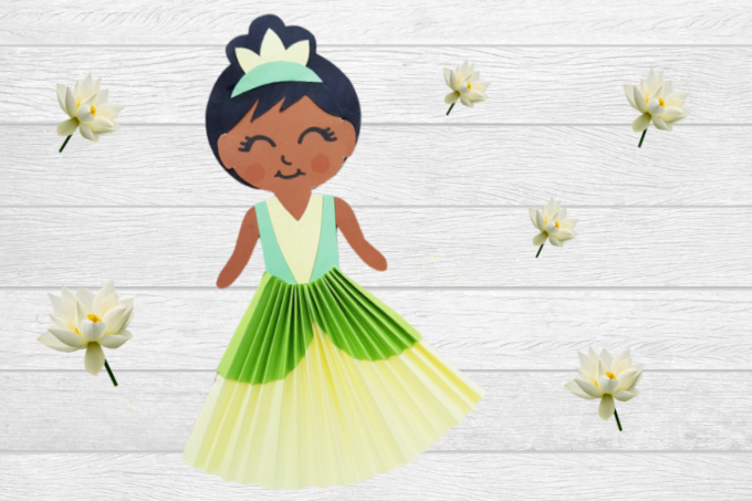 Disney Princess Tiana Paper Doll 680