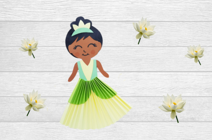 Disney Princess Tiana paper doll craft feature