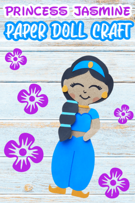 Princess Jasmine Paper Doll Craft