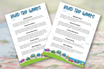 Road Trip Games feature