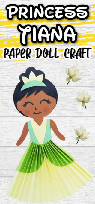 Tiana Paper Doll Craft Pin 2