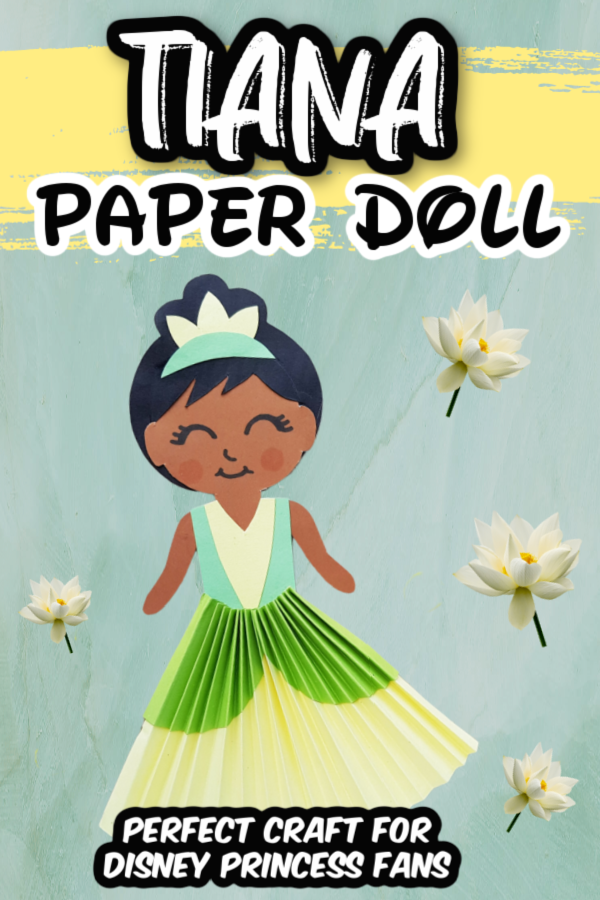 Tiana Paper Doll Craft Pin 4