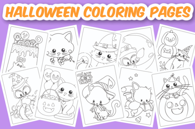 Halloween coloring pages feature