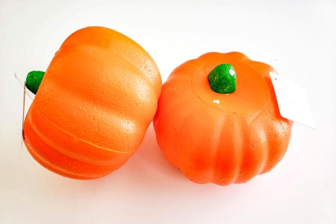 Styrofoam craft pumpkins