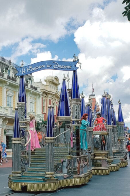 Disney Princess cavalcade at the Magic Kingdom