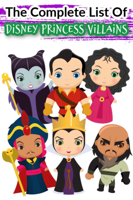 Disney princess villains pin