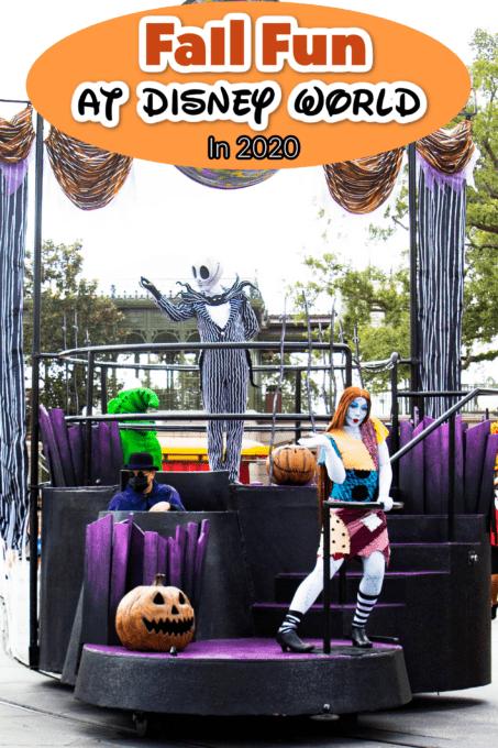 Fall fun at Disney World with Sally and Jack Skellington