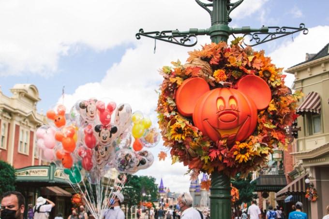 Mickey Pumpkin on Main Street