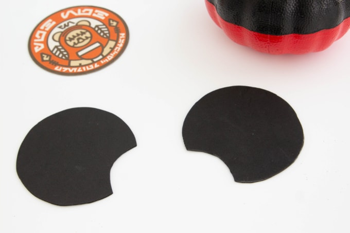 Mickey Mouse pumpkin ears cut out